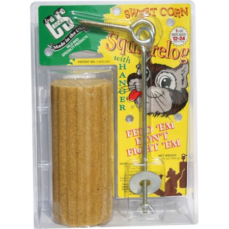 - C And S Products Co Inc P-Sweet Corn Squirrelog With Hanger 16 Ounce
