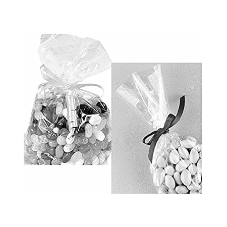 Gift Basket Supplies (100x Clear Flat Cello/Cellophane Treat Bag 4
