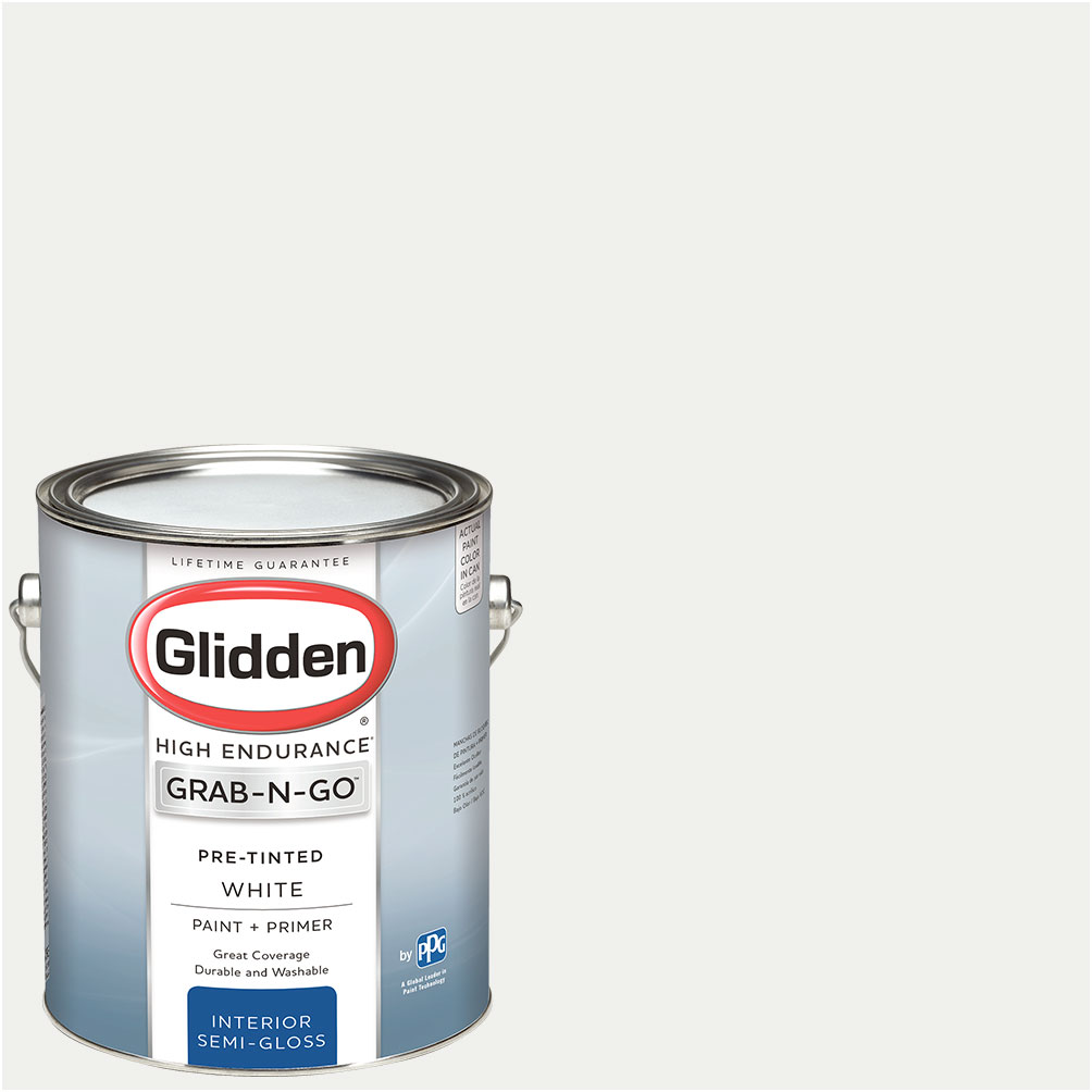 ... White Glidden Pre Mixed Ready To Use, Interior Paint And Primer, White
