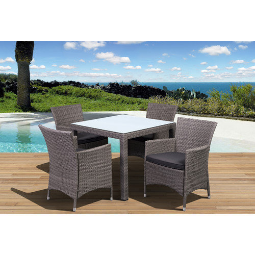 International Home Miami Atlantic Liberty Deluxe 5 Piece Dining Set