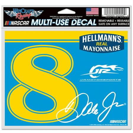 Sport Dale Earnhardt Jr Cover (Dale Earnhardt Jr. WinCraft Hellmann's 4.5'' x 6'' Multi-Use Number Decal - No)