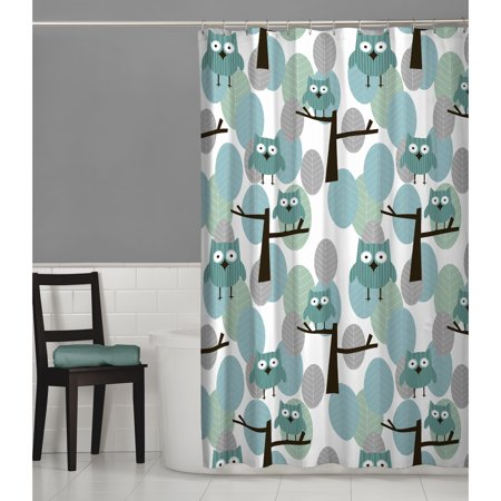 Maytex Owl Fabric Shower Curtain (Shower Curtain Owl)