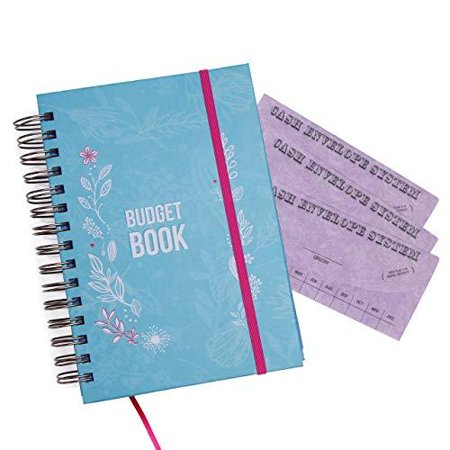 Bill Organizer Budget Planner Book - Monthly Budget Notebook and Expense Tracker – Finance Planner Bundled with Cash Envelopes – Budget Ledger with (Coastlines Notebook Planner)