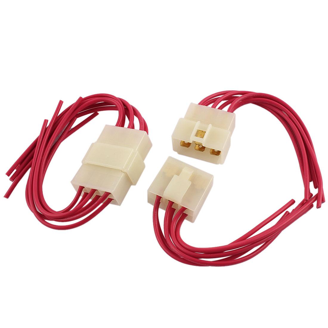 2 pcs car audio radio stereo wiring harness 6 pin wire adapter rh walmart ca radio wiring adapter stereo wire harness adapter