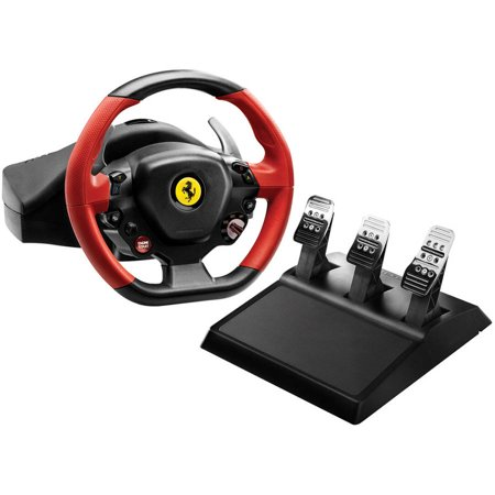 Thrustmaster 4460105 Xbox One Ferrari 458 Spider Racing Wheel and 4060056 T3PA Wide 3-Pedal - Rudder Pedals