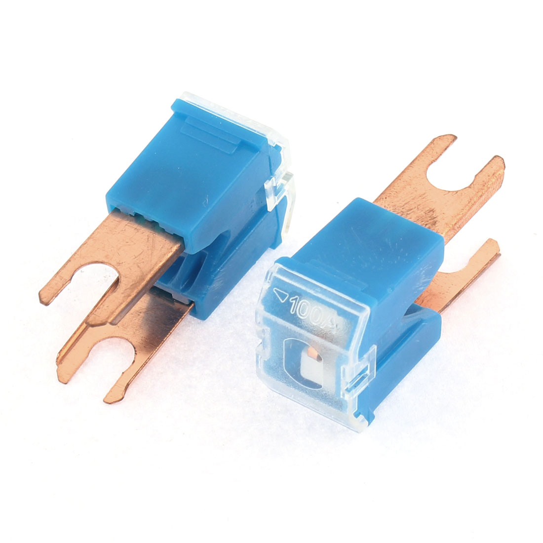 Plastic Shell 2 Terminals Straight PAL Slow Blow Male Fuse DC 32V 100A 2pcs