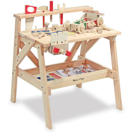 Melissa & Doug Solid Wood Project Workbench Play Building Set