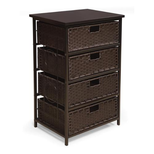 Badger Basket August Collection Tall Four Basket Storage Unit Espresso by Overstock