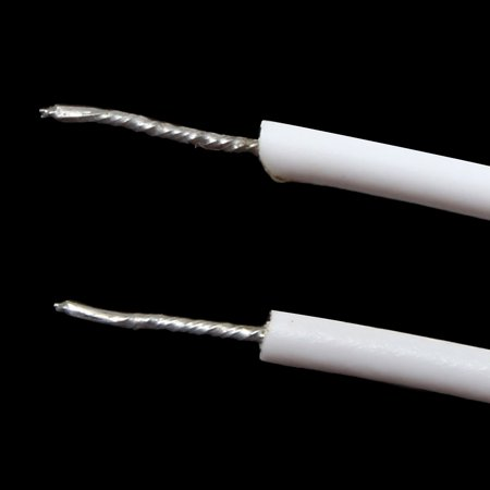 2pcs RC-33 NC Recessed Wire Door Contact Sensor Alarm Magnetic Reed Switch White - image 3 de 4