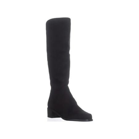Stuart Weitzman Villepentagon Knee High Boots, Black Suede - image 6 of 6