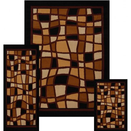 Free Carpet (Ebony Square Blocks Modern Contemporary Floor Rug Area Rug Designer rug Carpet Free Ship Sale)