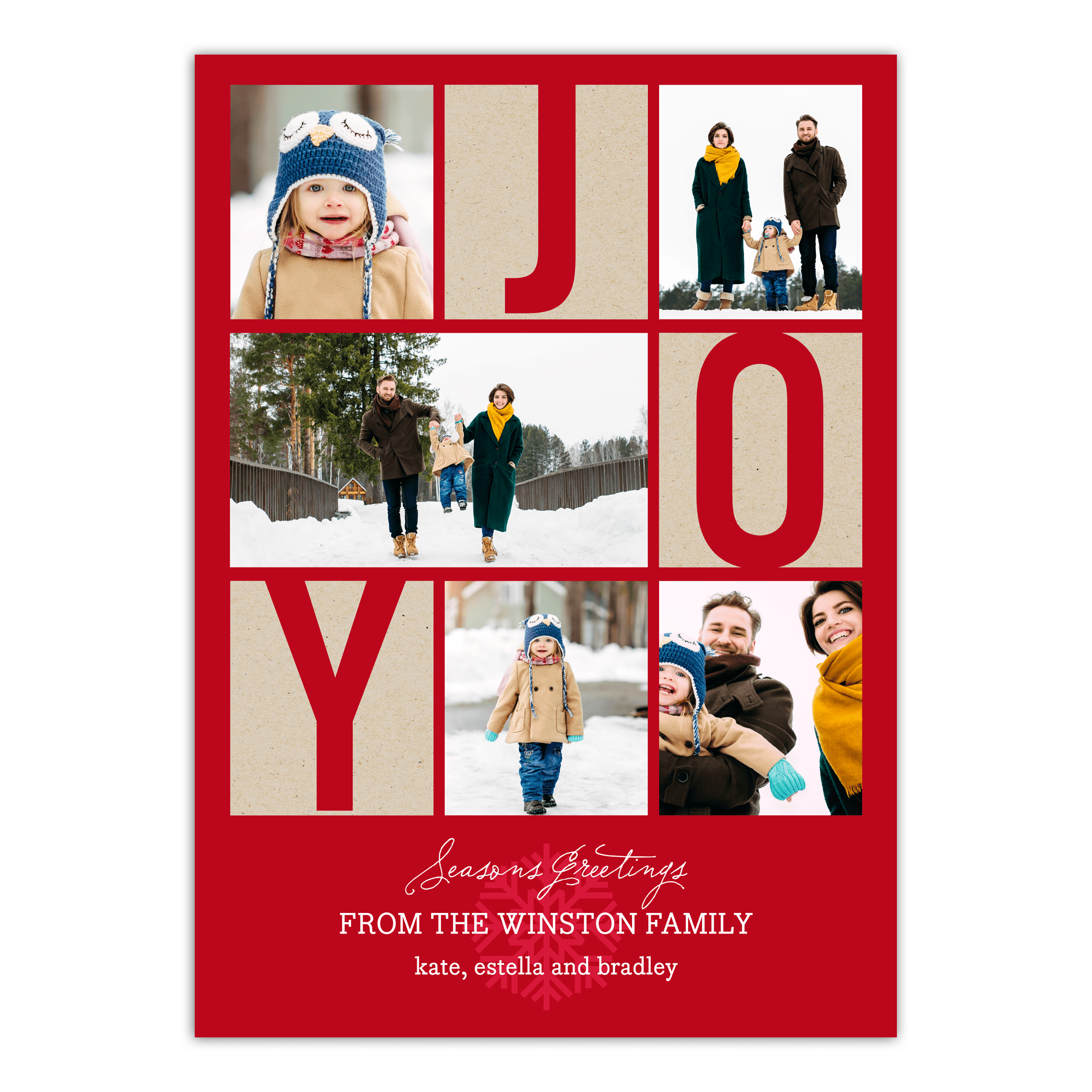 Personalized Holiday Photo Card - Peace & Joy