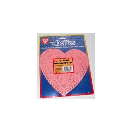 Hygloss Paper Lace Doilies Heart 6