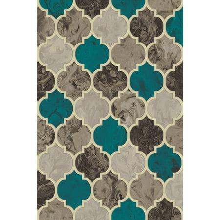 5x8 Rug Mat (KING Modern Contemporary Abstract 5X8 5x7 Rug Carpet 7209 Grey Gray Blue)