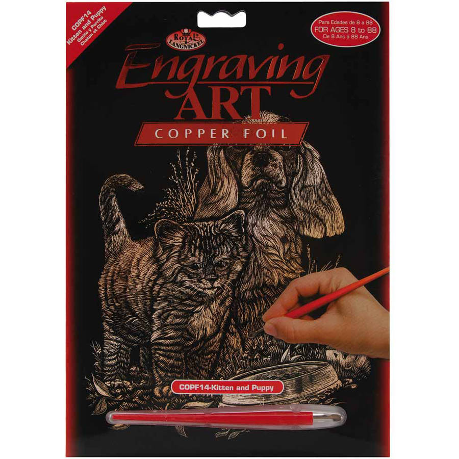 "Copper Foil Engraving Art Kit, 8"" x 10"""