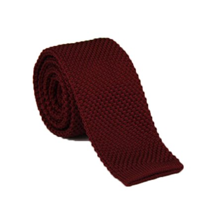 Fashion Men's Knitted Tie Necktie Casual Narrow Slim Skinny Solid Woven Tie ()