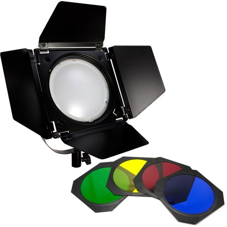 Loadstone Studio Led Barn Door Lighting Set 4 Color Gel Filters For