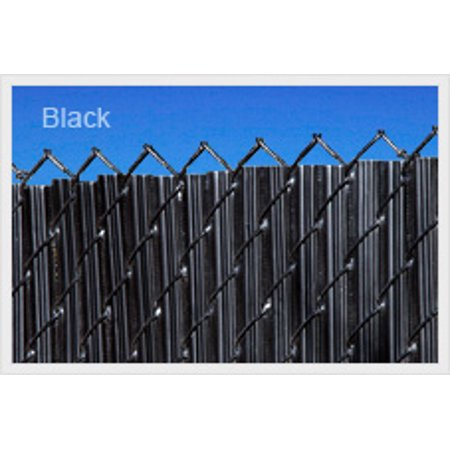 Image of Black 3ft Ridged Slat for Chain Link Fence