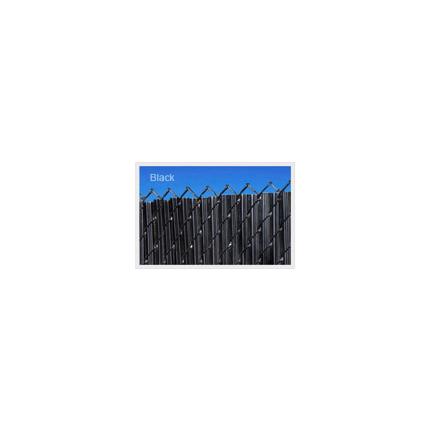 Black 3ft Ridged Slat For Chain Link Fence Walmart Com Walmart Com