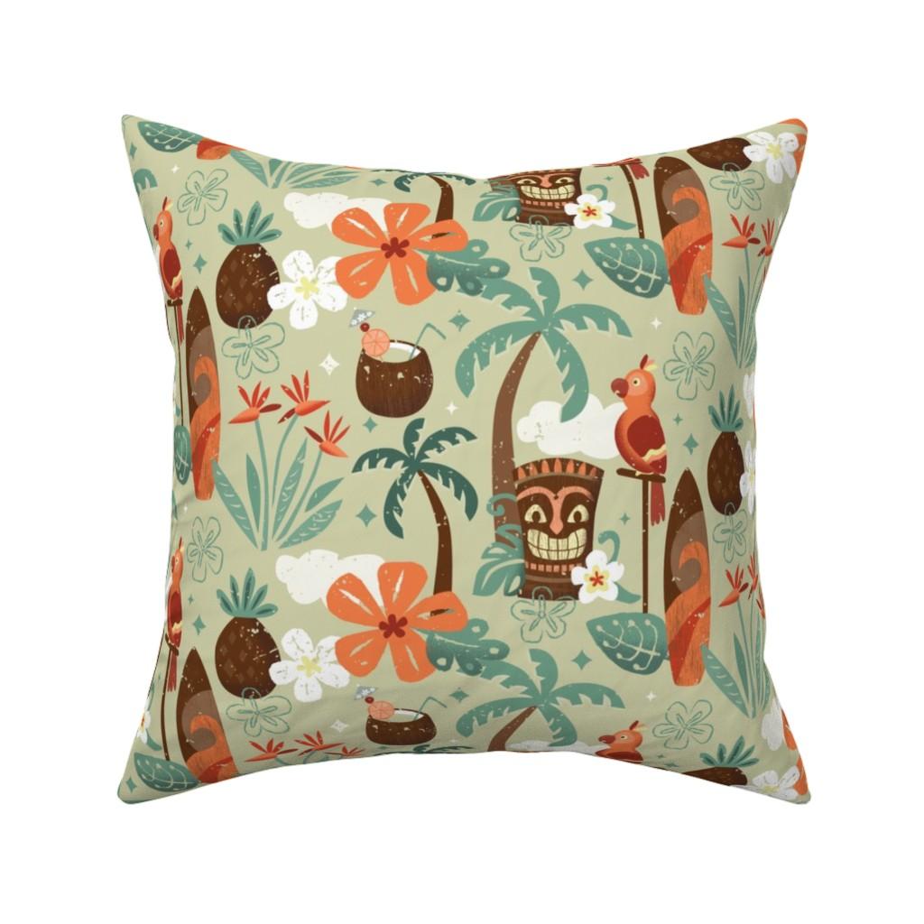 Tiki Hilton Hawaiian Village Throw Pillow Cover W Optional Insert By Roostery Walmart Com Walmart Com