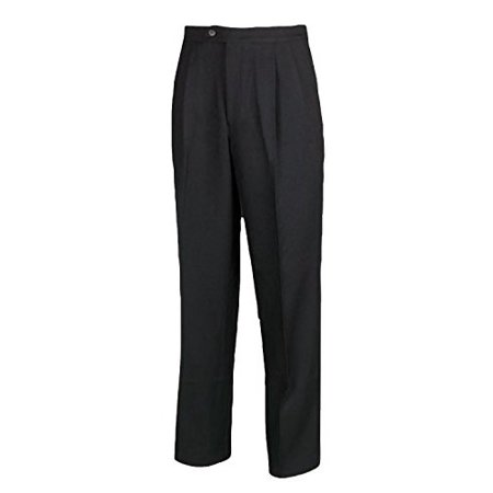 32 Inch Inseam Trouser Pant - Adams USA Smitty Men's Pleated Referee Pants (Black, 32-Inch)