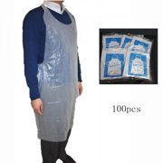 Cyber Monday Clearance 100Pcs Disposable Apron Transparent Waterproof Household Cleaning Apron Accessories Kitchen Products Transparent