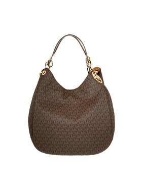 bb7cb77fee72 Product Image Fulton Large Leather Shoulder Bag - Brown - 30S7GFTL3B-200. Michael  Kors