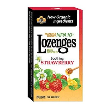 Pacific Resources Propolis Lozenges, Strawberry, 20