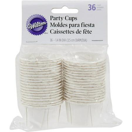 Wilton 1.25 oz. Nut & Party Treat Cups, White 36 ct.