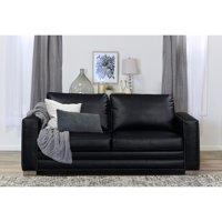 "Serta Mason 81"" Sofa in Black Bonded Leather"