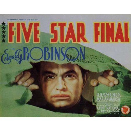 Five Star 36' Natural - LAMINATED POSTER Five Star Final (1931) Laminated Movie Poster Print 24 x 36