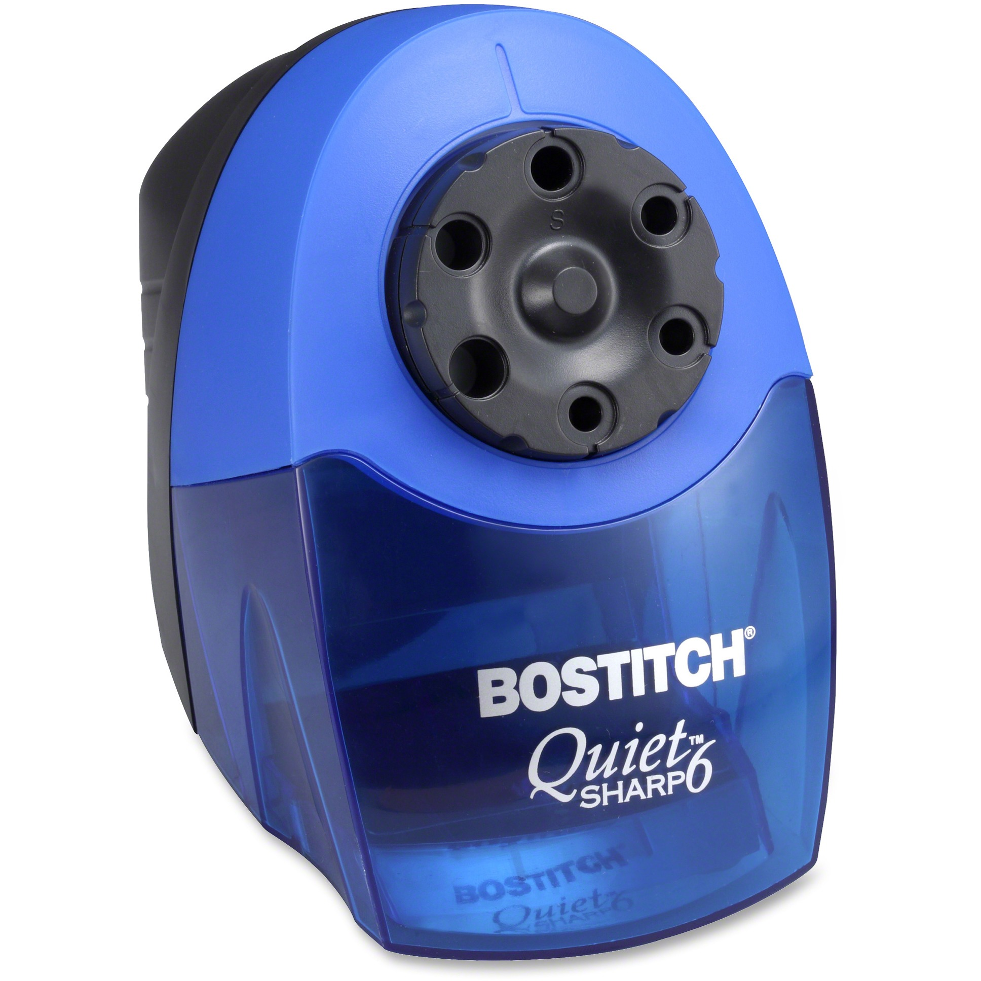 Bostitch QuietSharp 6 Classroom Electric Pencil Sharpener, Blue