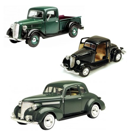 Best of 1930s Diecast Cars - Set 10 - Set of Three 1/24 Scale Diecast Model