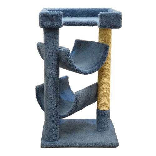 New Cat Condos Scratch and Lounge Cat Tree Blue