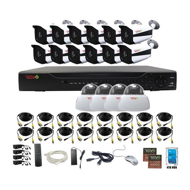 Aero HD 16 Channel Surveillance System with 16 Indoor & Outdoor 5 Megapixel Cameras