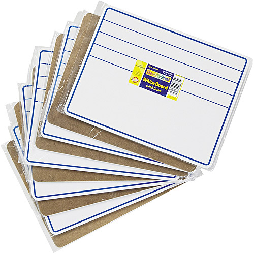 "Chenille Kraft Student Dry-Erase Boards, 12"" x 9"", Blue/White, 10-Pack"