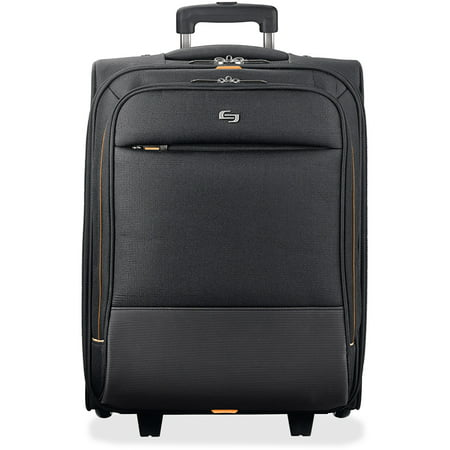 Solo, USLUBN9104, US Luggage Front Zipper Rolling Overnighter Case, 1, Black,Gold Rolling Notebook Overnighter Case