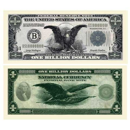 Billion Dollar Federal Reserve Note With Bill Protector - Novelty Money, This bill continues the chapter in the series of American Art Classics Authentic bills.., By American Art Classics