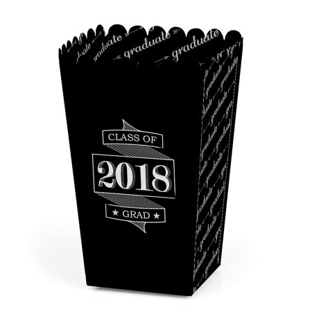 Graduation Cheers - 2018 Graduation Party Favor Popcorn Treat Boxes - Set of 12 - Graduation Party Items