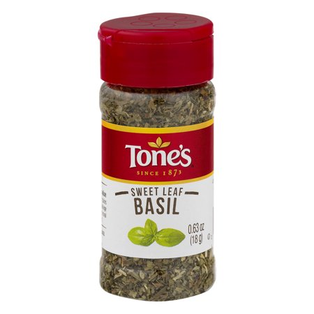 (2 Pack) Tone's Sweet Leaf Basil, 0.63 OZ