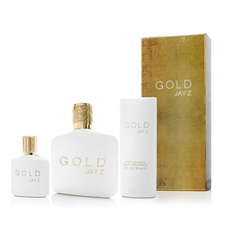 Adidas Mens Edt Spray - Jay-Z Gold 3 Piece Gift Set for Men 3 oz. EDT Spray by Jay-Z