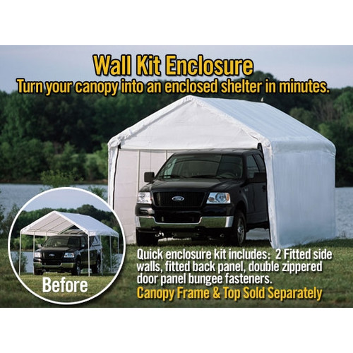 "Super Max 12' x 26' White Canopy Enclosure Kit Fits 2"" Frame"