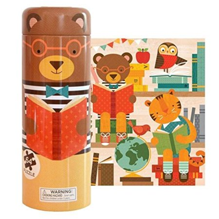 Tin Canister Jigsaw Floor Puzzle, Story Time, 64 Piece, Each tin canister  houses 64 sturdy puzzle pieces to make a joyful puzzle, packed with  , By