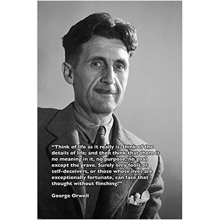 Vintage Photo Poster George Orwell Quote Author 1984 Collectors Rare 24X36 ()