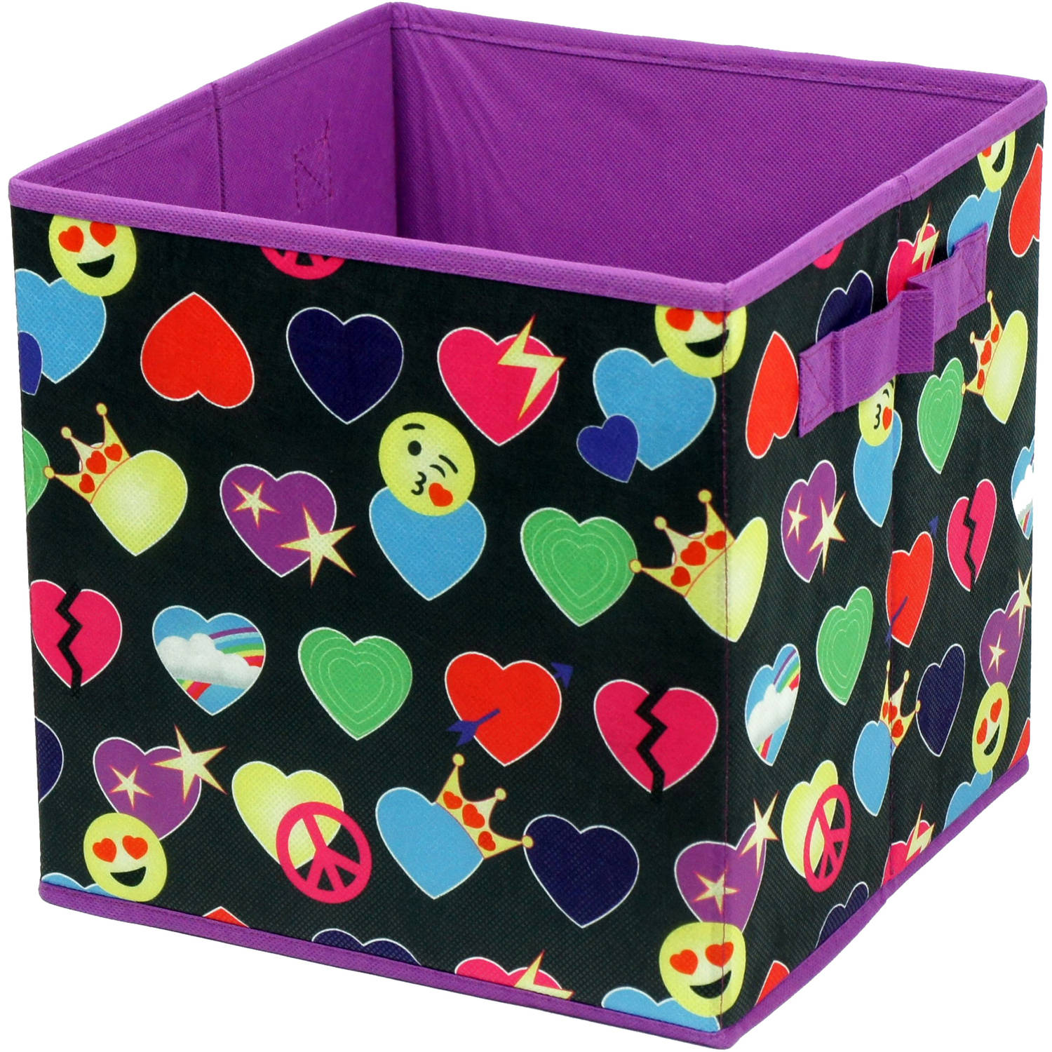 EmojiPals All Over Collapsible 2 Pack Soft Storage Cubes   Walmart.com