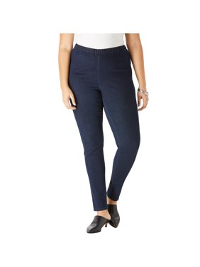 Roaman's Women's Plus Size Skinny-Leg Pull-On Stretch Jean
