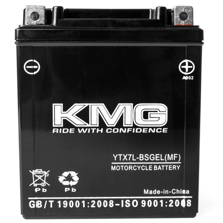KMG 12 Volts 7Ah Replacement Battery for Honda CBR250R 2011-2012 - image 2 de 3