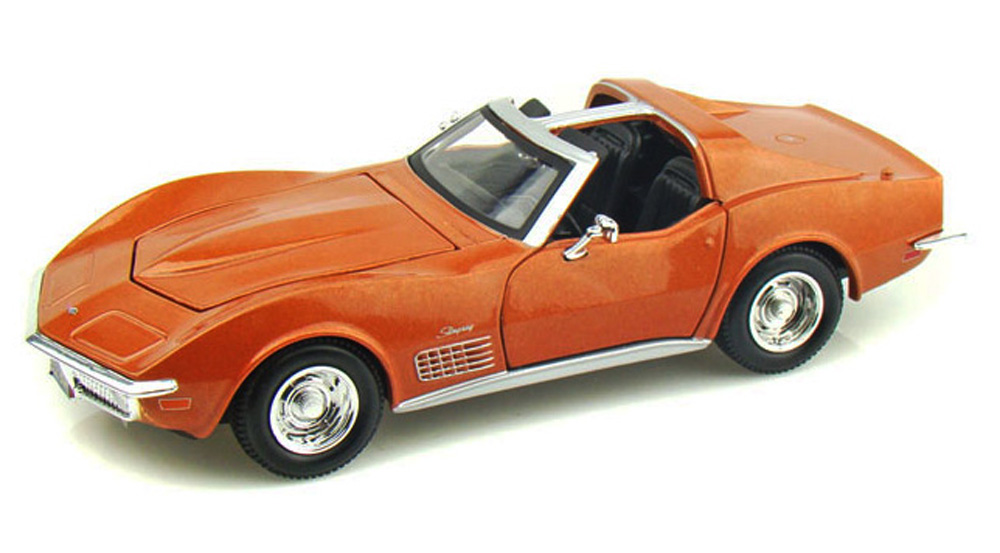 1970 Chevy Corvette T-Top, Bronze Maisto 34202 1 24 Scale Diecast Model Toy Car (Brand but... by Maisto