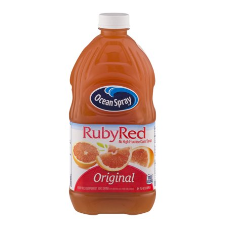 (2 Pack) Ocean Spray Juice, Ruby Red Grapefruit, 64 Fl Oz, 1 Count (Grape Fruit Juice Concentrate)