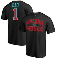 Arizona Diamondbacks Fanatics Branded 2018 Father's Day Number 1 Dad T-Shirt - Black